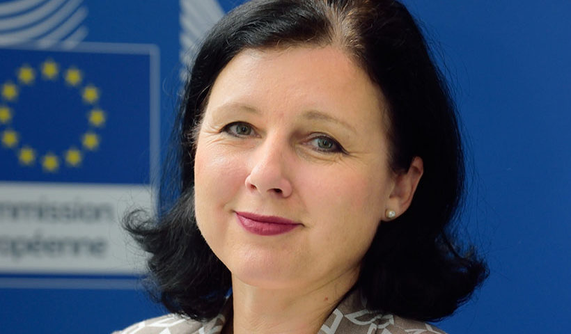 Vera Jourova EU Commissioner Justice