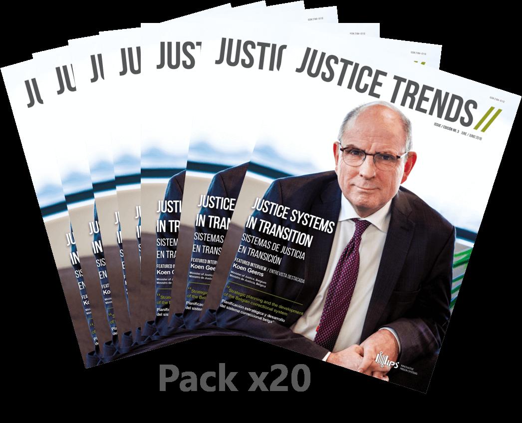 Pack x20 copies JUSTICE TRENDS magazine