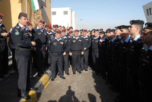 Brigadier Ayman Turki AL Awaisheh meets with staff