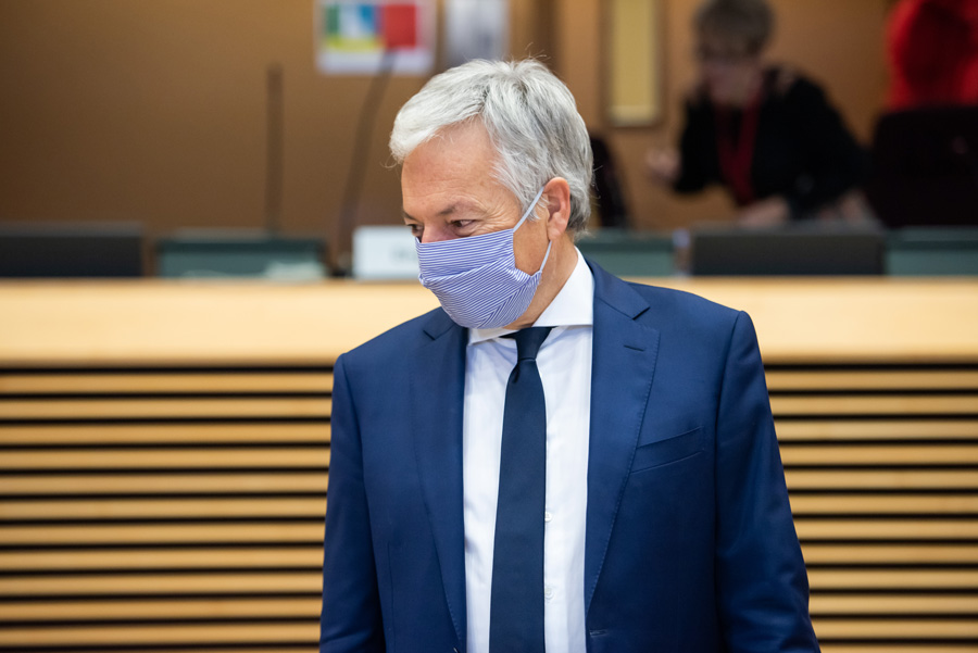 Commissioner Reynders at the weekly meeting of the European Commission
