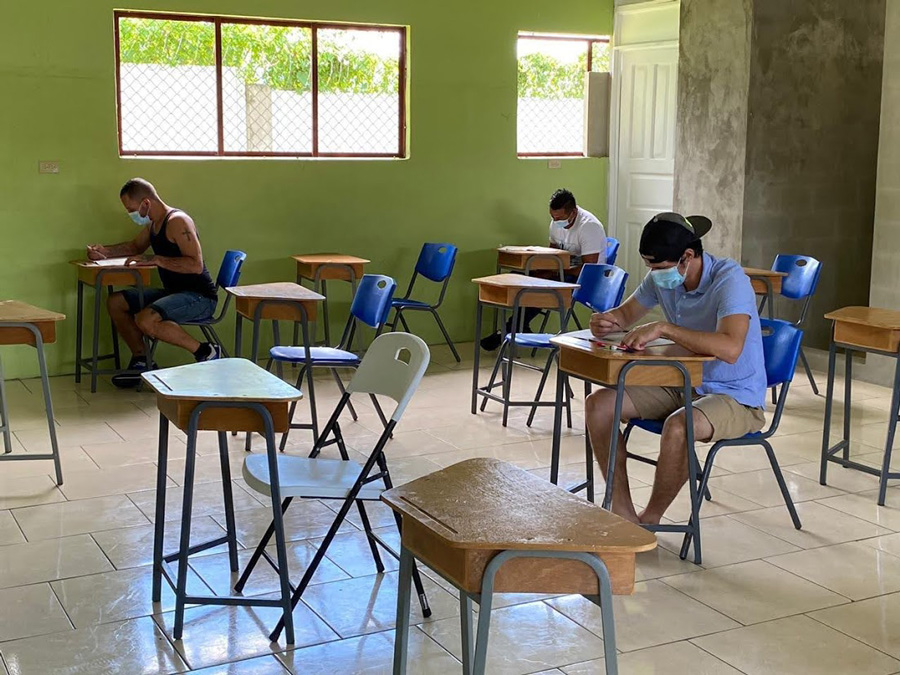 Inmates take baccalaureate exams
