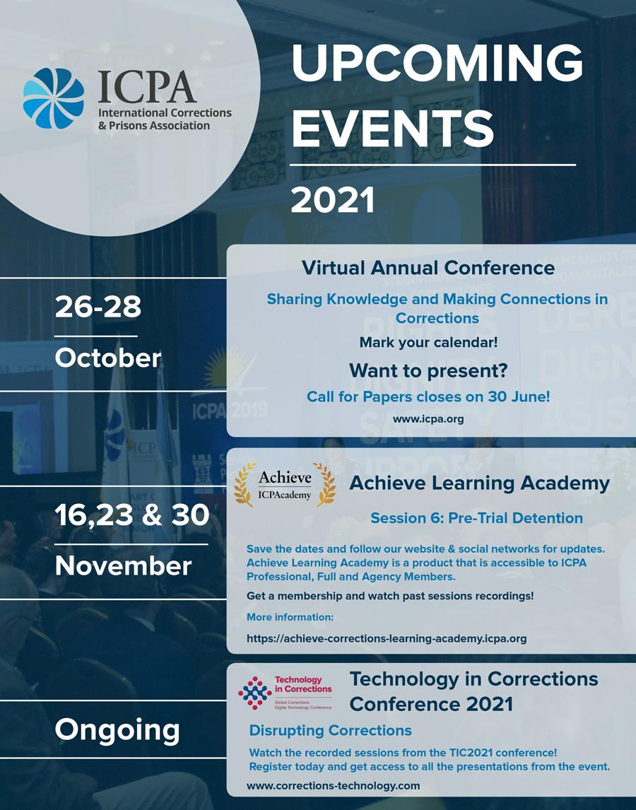 ICPA - upcoming events