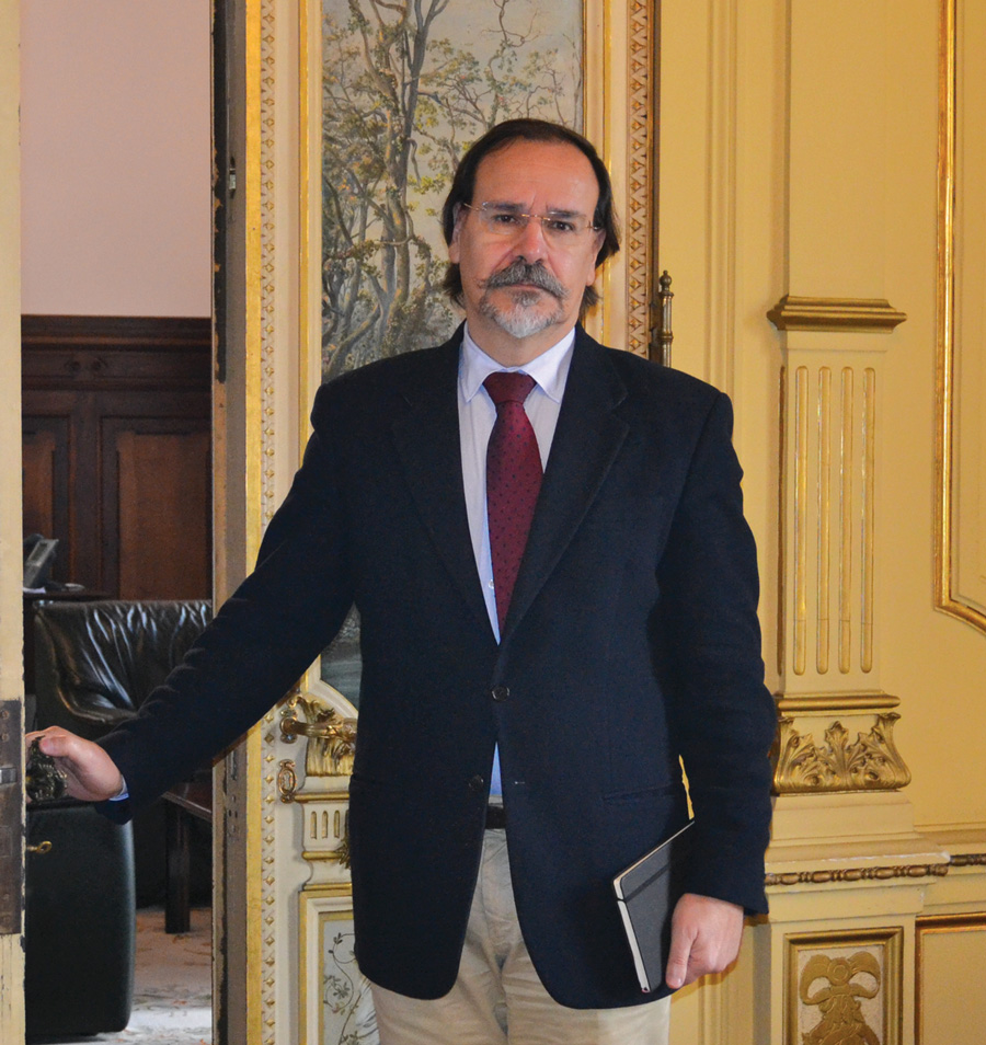 Romulo Mateus at his office