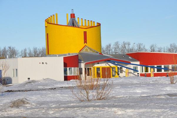 Exterior view of Pê Sâkâstêw Centre, Alberta, Canada