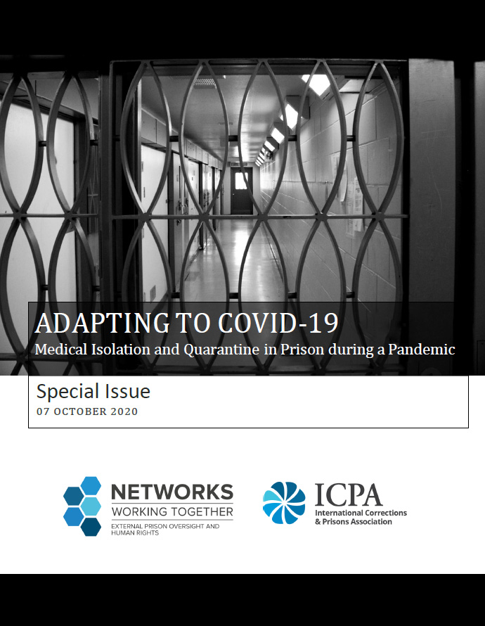 Cover of the special newsletter issued in October 2020 by the Expert Network on External Prison Oversight and Human Rights, chaired by Ivan Zinger